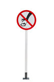 A littering prohibited signal Stock Photo