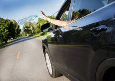 Littering the roads Royalty Free Stock Images