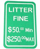Littering Sign Stock Image