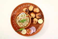 Litti Chokha ή τρόφιμα Sattu Litty, ινδικά τρόφιμα Bihari στοκ φωτογραφίες με δικαίωμα ελεύθερης χρήσης