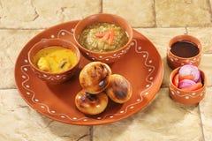 Litti Chokha - Bihar traditional food.  Royalty Free Stock Image