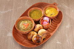 Litti Chokha - Bihar traditional food.  Royalty Free Stock Photography
