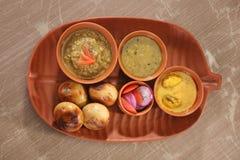 Litti Chokha - Bihar traditional food.  Royalty Free Stock Photo