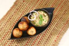 Litti Chokha or Bihari Food Sattu Litty, Indian Food.  royalty free stock photography