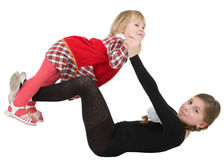 Little acrobat girls Stock Image