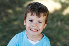 Little active angry boy Royalty Free Stock Photos