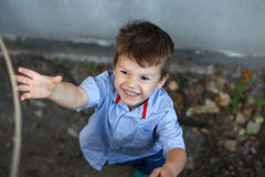 Little active bad kid Royalty Free Stock Photo