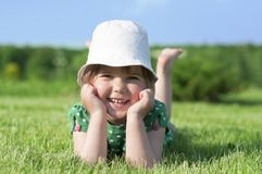 Little adorable girl in park Royalty Free Stock Photography