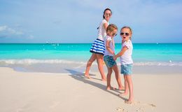 Little adorable girls having fun with happy mom Stock Photography
