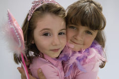 Little Adorable Princesses Stock Photography