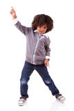 Little african american boy dancing Stock Photos