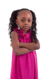 Little african american girl with folded arms - Black people Stock Photography