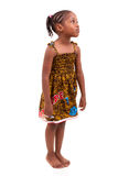 Little african american girl isolated on white background Royalty Free Stock Photo