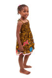 Little african american girl isolated on white background Stock Images