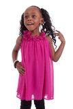 Little african american girl smiling Stock Photo