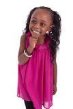 Little african american girl smiling Royalty Free Stock Images
