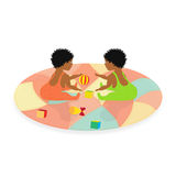 Little African Baby Twins Royalty Free Stock Photos