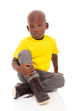 Little african boy sitting Royalty Free Stock Photo