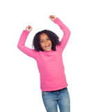 Little african girl celebrating something Royalty Free Stock Photo