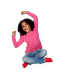 Little african girl celebrating something Stock Photo