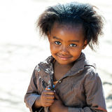 Little african girl outdoors. Royalty Free Stock Image