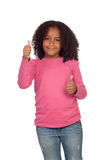 Little african girl saying Ok Stock Photography
