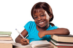 African American school girl smiling Royalty Free Stock Photography