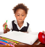 Little African schoolboy Royalty Free Stock Photography