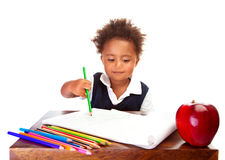 Little African schoolboy Royalty Free Stock Image