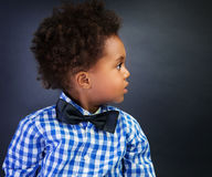 Little African schoolboy Royalty Free Stock Photo