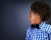 Little African schoolboy Stock Photography