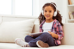 Little Afro-American girl Royalty Free Stock Images