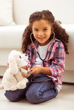Little Afro-American girl Stock Images
