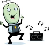 Little Alien Dancing Stock Image
