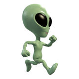 Little alien runner Stock Photos