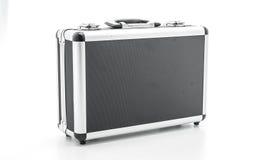 Little aluminum case. On white background Royalty Free Stock Photo