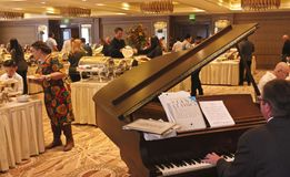 A Little America Hotel Flagstaff Thanksgiving Brunch Pianist Stock Images