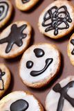 Little american smiley cake Stock Images