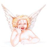 Little angel 02 Royalty Free Stock Photos