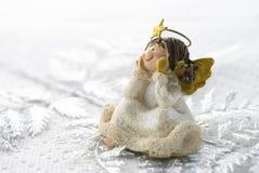 Little Angel. Christmas decoration little angel arranged on white background Stock Images