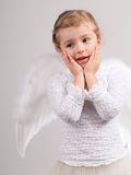 Little Angel. Cute little girl with angel wings Stock Photos