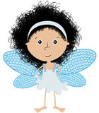 Little angel. Cute little angel over white Stock Images