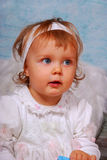 Little angel. Little baby girl with white wings as angel Royalty Free Stock Photos