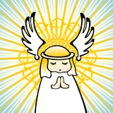 Little angel. With wings, illustraton Stock Photos