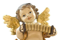 Little angel with accordion Stock Images