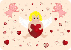 Little angel with big heart Royalty Free Stock Photos