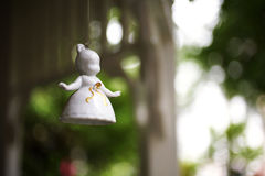 Little angel ceramic doll Stock Images