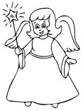 Little angel coloring pages Stock Images