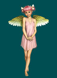 Little Angel 3d CG Royalty Free Stock Image