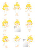 Little angel display. With 9 actions Royalty Free Stock Images